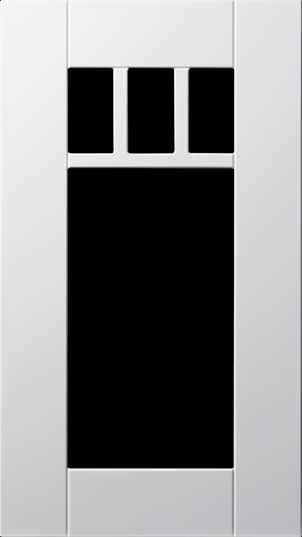 Hav lucka, vit, vitrin med spröjs, Nordanro Flex