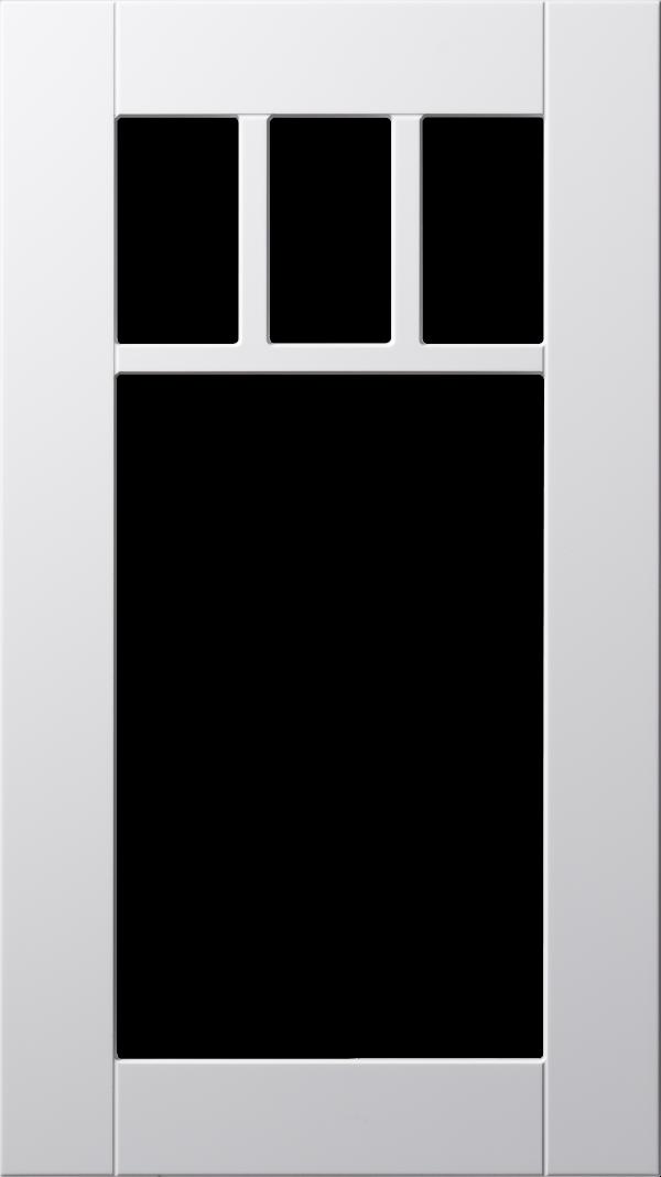 Koster lucka, vit, vitrin med rak spröjs, Nordanro Flex