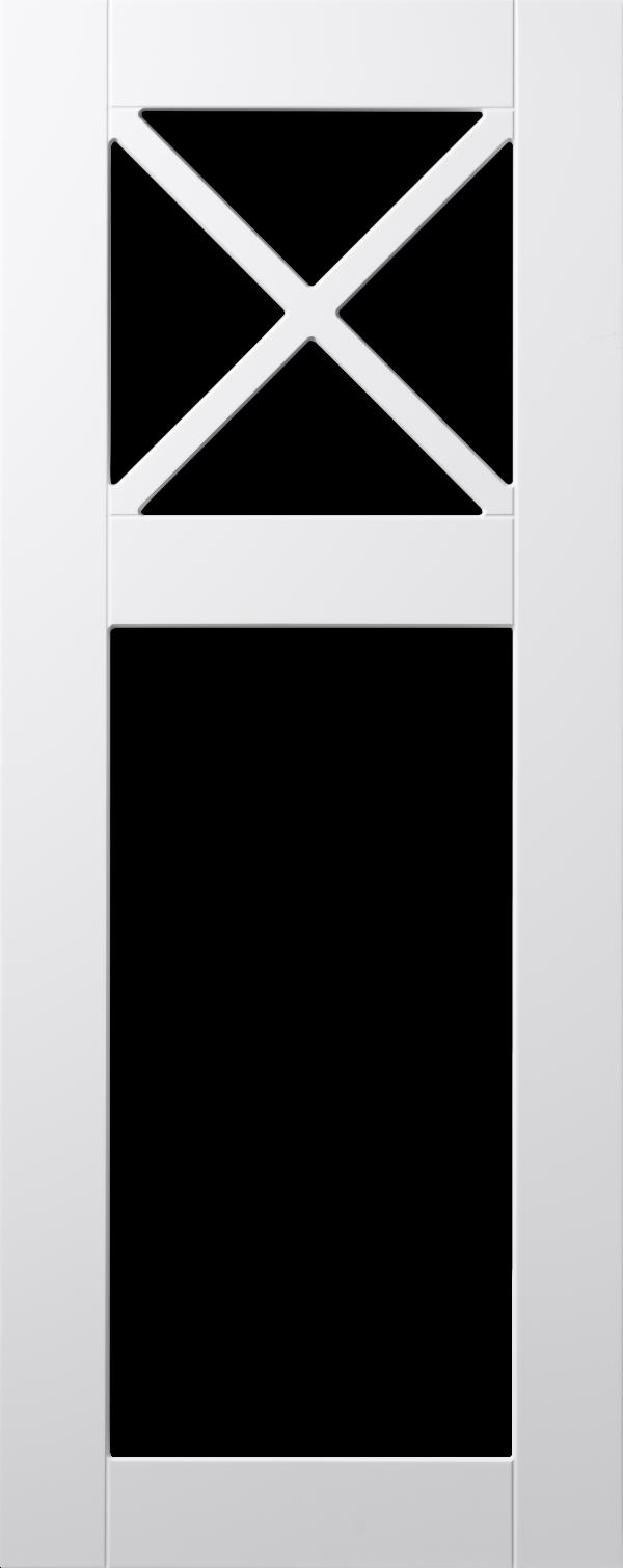 Koster lucka, vit, vitrin med krysspröjs, Nordanro Flex