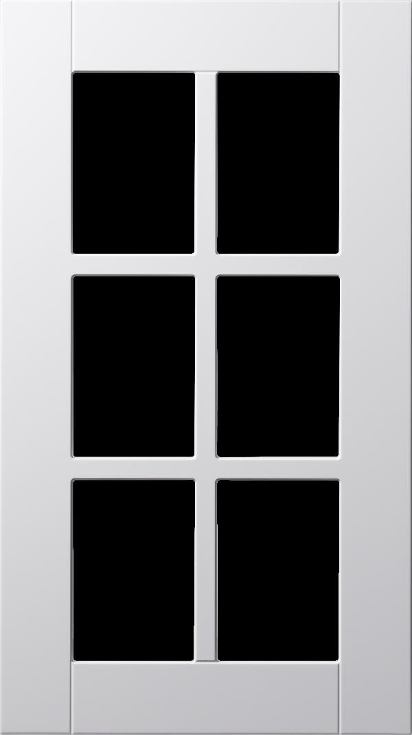Koster lucka, vit, vitrin med spröjs, Nordanro Flex