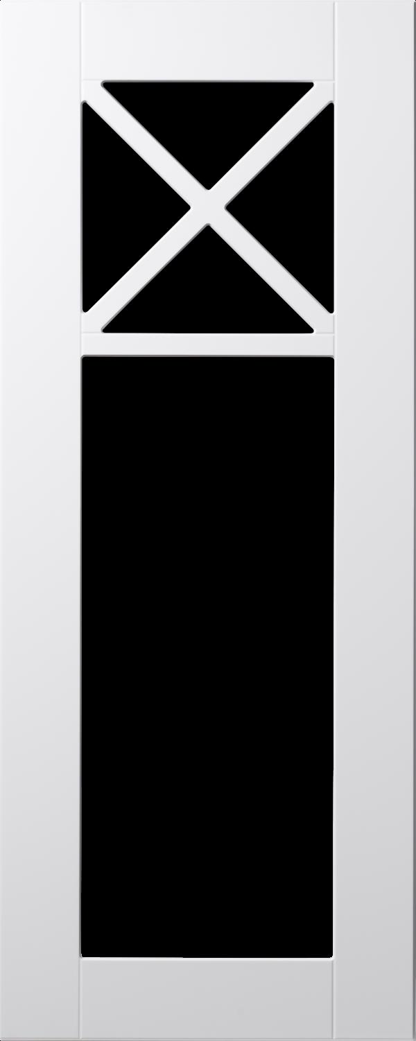 Land 70 lucka, vit, vitrin med krysspröjs, Nordanro Flex