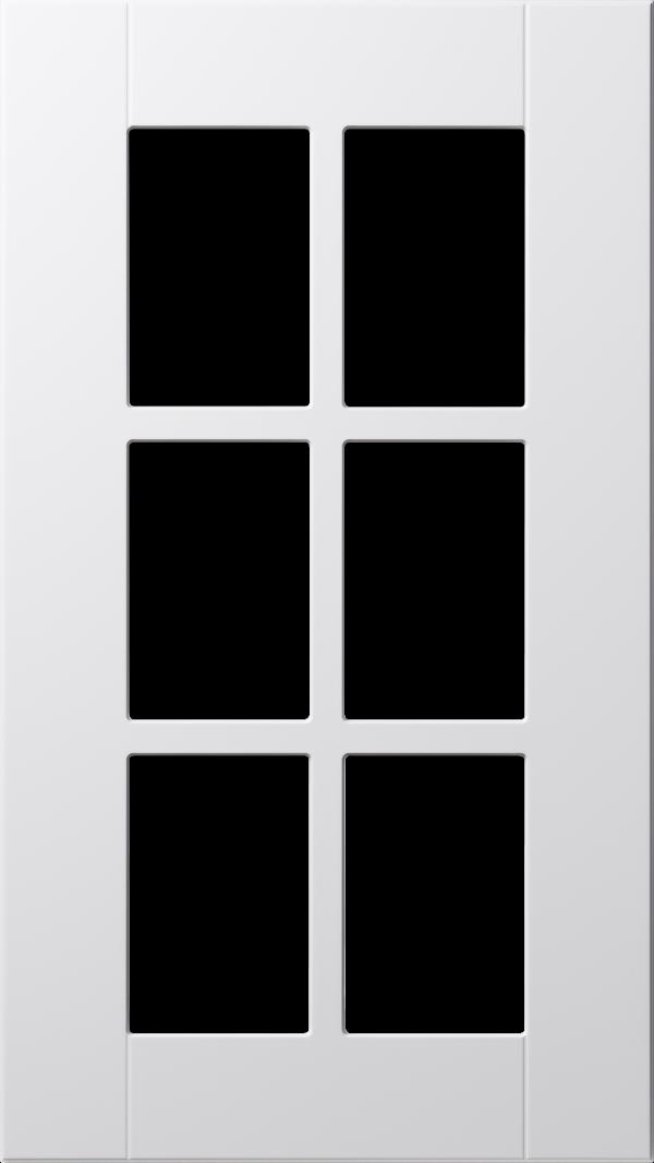 Land 70 lucka, vit, vitrin med spröjs, Nordanro Flex