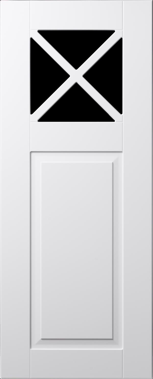 Land 70 lucka, vit, vitrin med krysspröjs och spegel, Nordanro Flex