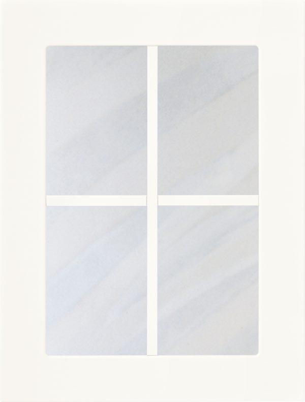 Herrgård 782 lucka, Vit matt, vitrin, Nordanro