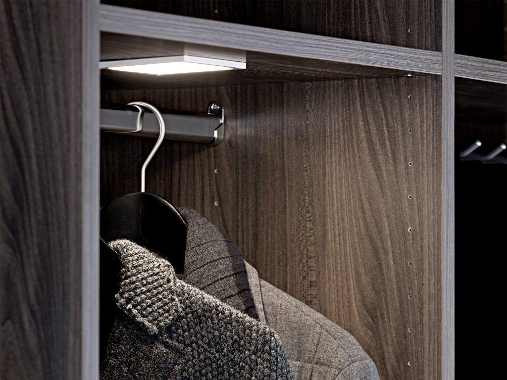 Klädgarderob, inbyggd belysning, Nordanro