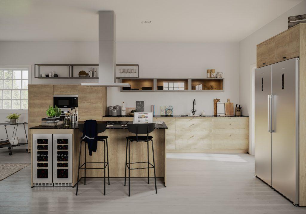 Kök, naturstil, Gryning 405, Nordanro