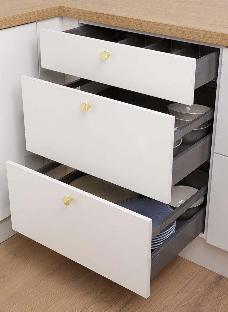 Lådskåp, tre utdragbara lådor, Nordanro Flex
