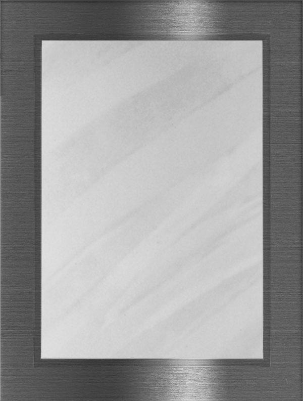Metallic 216 lucka, Borstat stål, vitrin, Nordanro