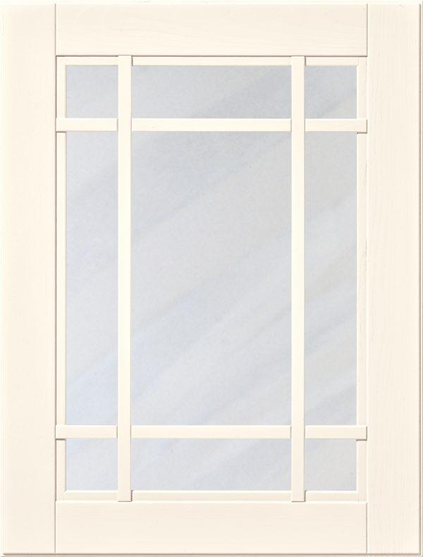 Ramprofil M 905 lucka, Elfenben högglans, vitrin, Nordanro